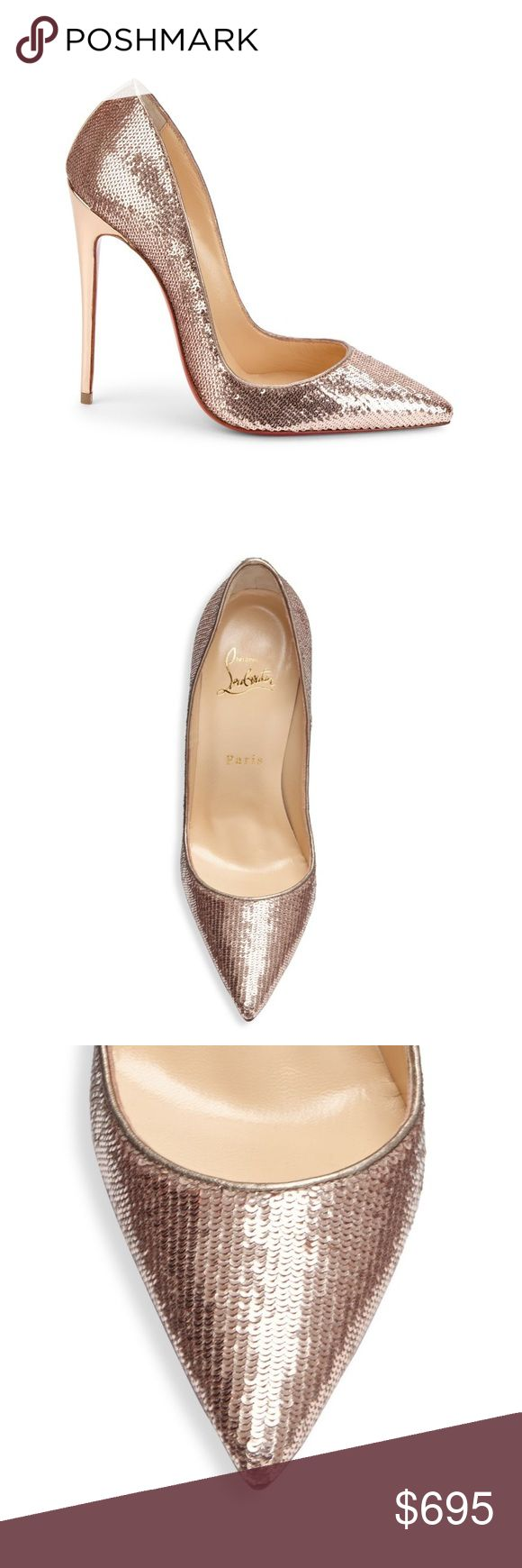 AUTHENTIC Christian Louboutin Kate sequin pumps Christian Louboutin Shoes Heels
