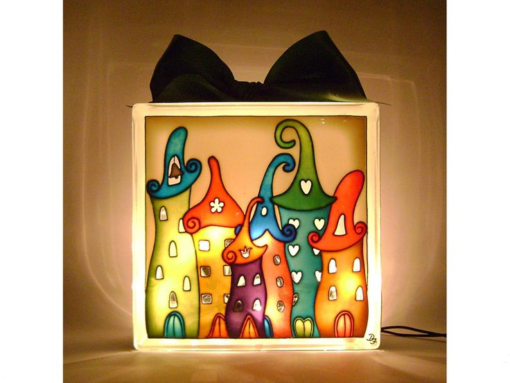 Houses Mood Lighting Kids Room Night Lamp Nursery Mood