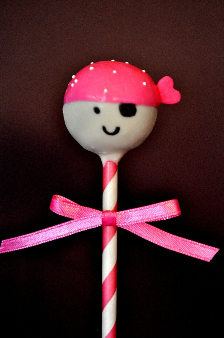 Girly pirate cake pops from theentireconfection on our for Pop cake decoration