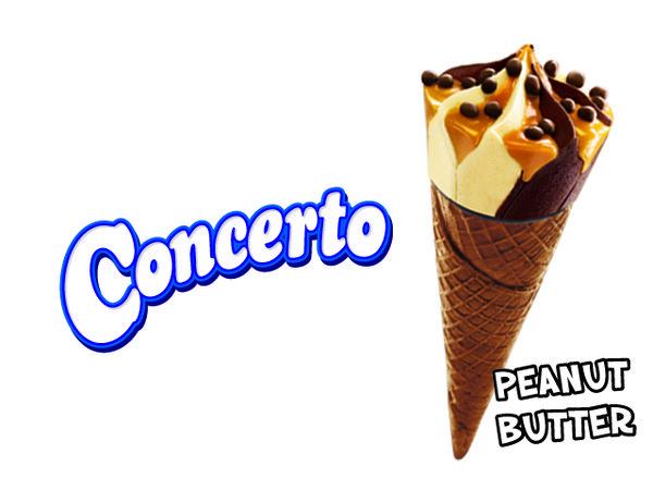 Concerto Peanut Butter  Es krim rasa Cokelat & Kacang dengan Selai Kacang  Ukuran : 110ml Harga Rp 6.000  Pembelian bisa melalui Campina Delivery 0807 100 7576 (Minimal Order Rp 50.000) icecreamstore.co.id