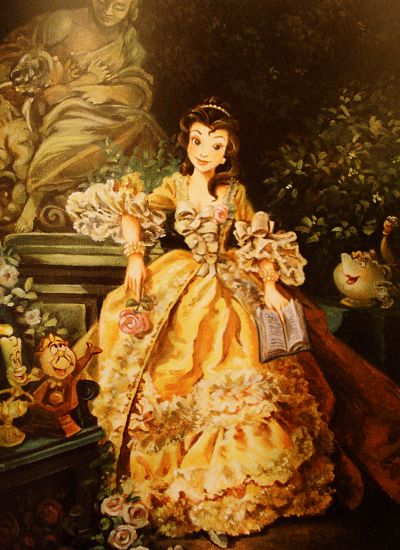if she were painted in the time period Beauty and the Beast is set in. Beautiful!