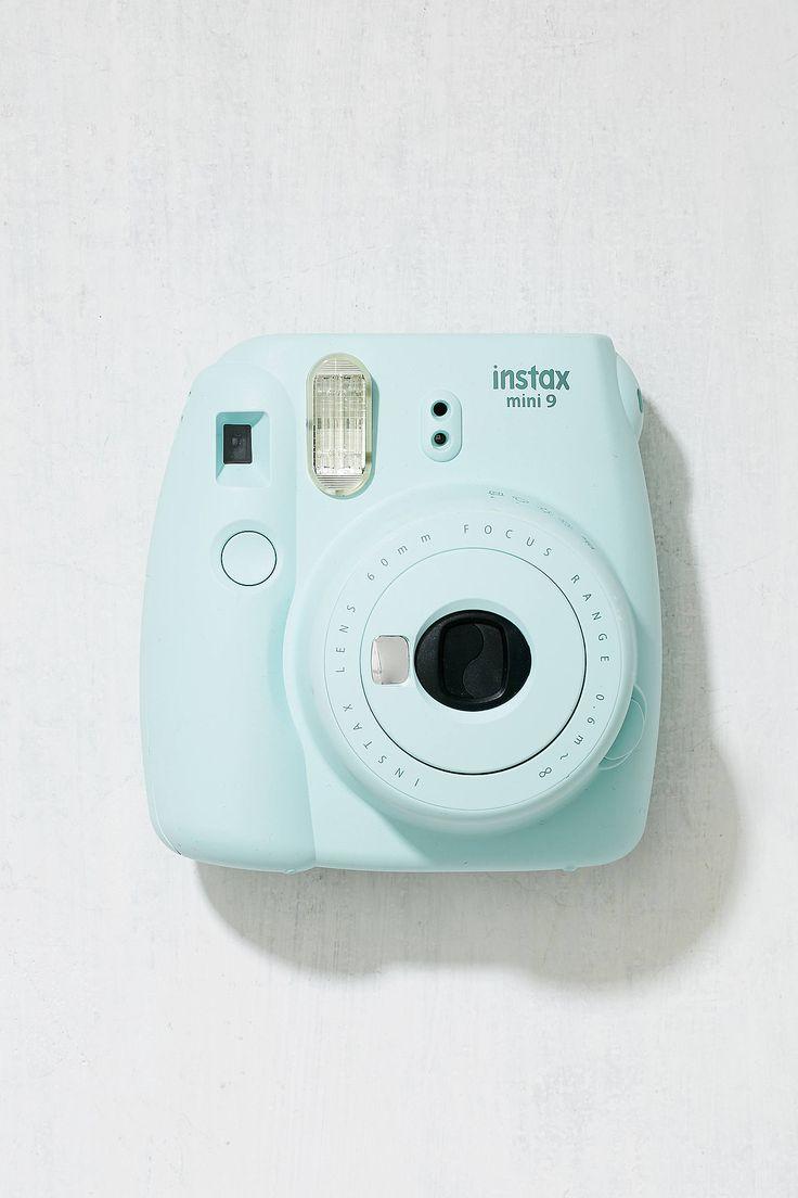 Slide View: 1: Fujifilm Instax Mini 9 Ice Blue Instant Camera