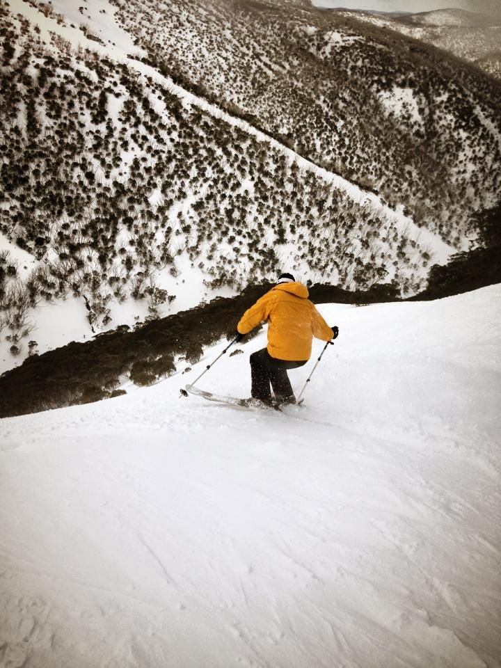Skier at Mt Hotham ski resort in Victoria, Australia #snowaus