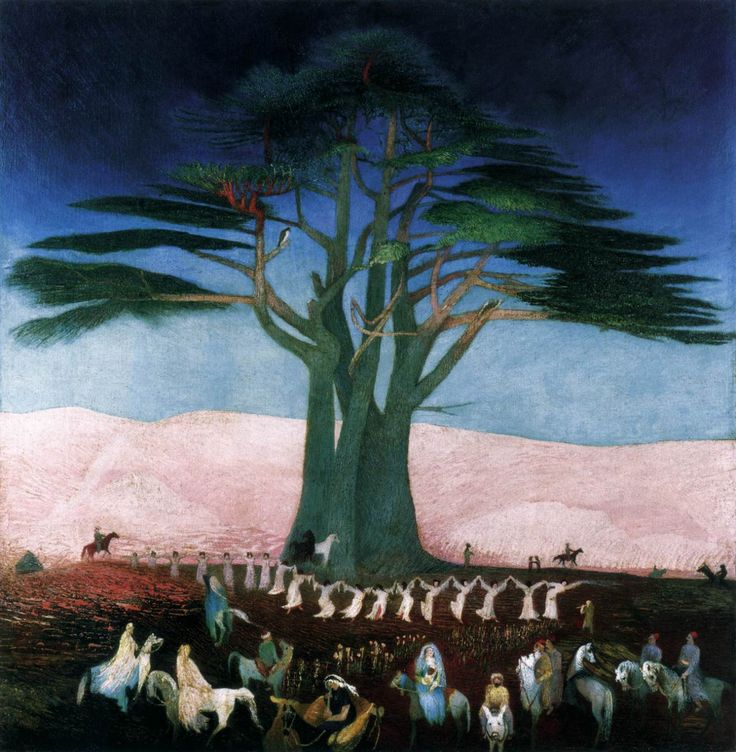 CSONTVÁRY KOSZTKA, Tivadar Pilgrimage to the Cedars in Lebanon 1907 Oil on canvas, 200 x 205 cm Magyar Nemzeti Galéria, Budapest