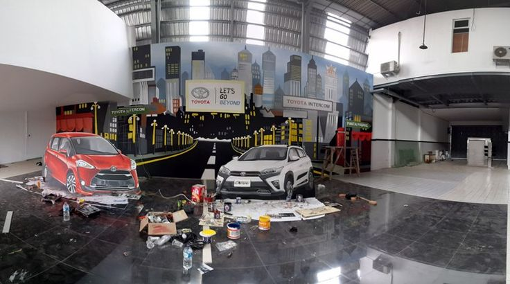 Jasa Mural, Jasa Lukis Dinding, jasa Mural Padang, Jasa Lukis Dinding Padang, Jasa 3d trick art, jasa mural 3d, photobooth 3d, toyota intercom padang