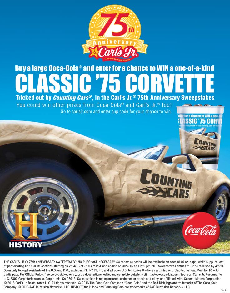 HISTORY and Carl's Jr. Celebrate Popular Burger Chain's 75th Anniversary with Classic Car Restoration Series Integrations with Counting…