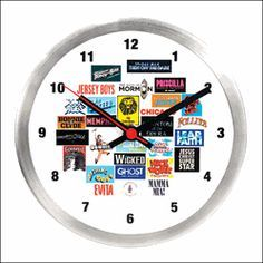 Keep time to the music with this fabulous Broadway themed clock!
