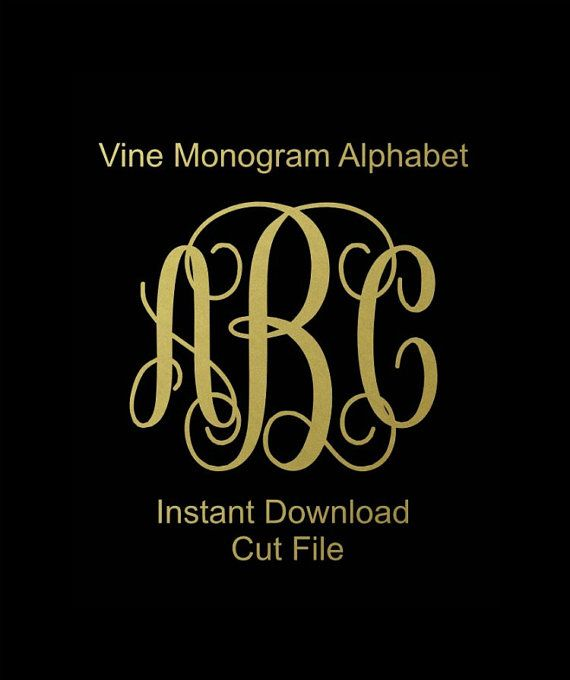 Interlocking Vine Monogram Svg, Vine Monogram Font, Svg Monogram Font, Cricut Cut Files, Silhouette Cut Files   This listing is for an INSTANT DOWNLOAD of the shown alphabet. You can easily create your own projects. Can be used with the silhouette cutting machines or other machines that accept SVG. It includes 1 zip folder  1. 52 SVG files = Center letter and lowercase letter for each (lowercase makes both left and right letter) 2. 52 Stufio.3 files = Center letter and lowercase letter for…