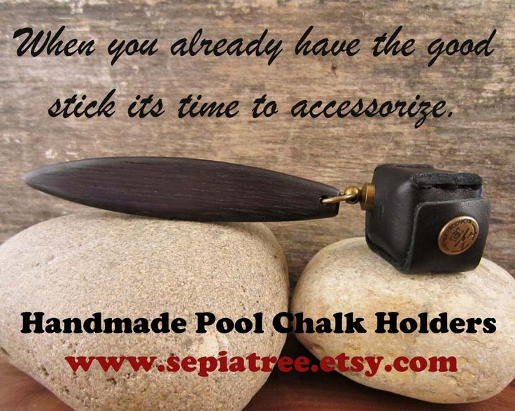 Putting A Little Extra Class Into Your Pool Table Accessories. Pictured Is  A Pocket Chalker