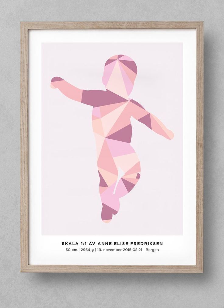 """Geometric"" newborn poster! Customize your unique birthposter at www.fodselsplakat.no and get a beautiful memory for how big your baby actually was when it was born! Free shipping worldwide. Comes in many different colors!"