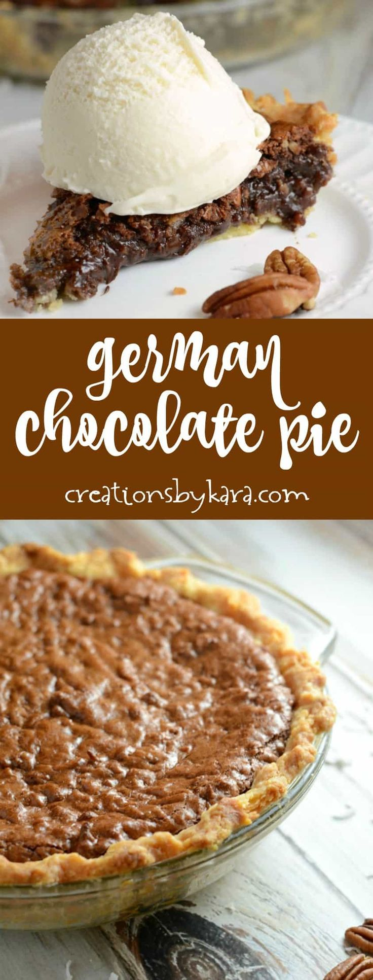 Recipe for German Chocolate Pie - if you love German chocolate cake, you must try this German chocolate pie. Every bite is decadent - and it is easy to make!