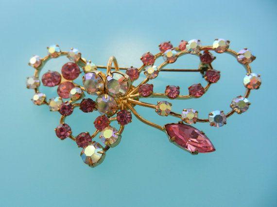 1950 Sweet loveliness Aurora Borealis rhinestones by RAKcreations