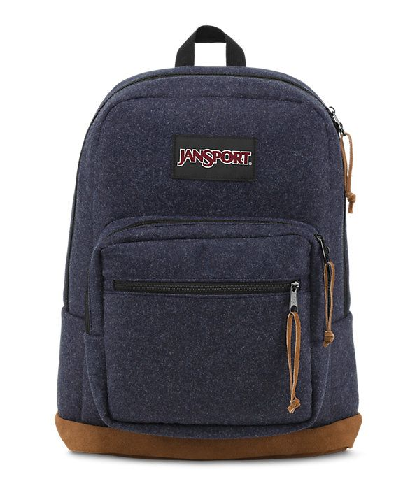 The JanSport Right Pack Digital Edition comes with modern digital protection features. This backpack includes a padded 15 in laptop sleeve, soft tricot lined tablet sleeve and front pocket with digital organizer.