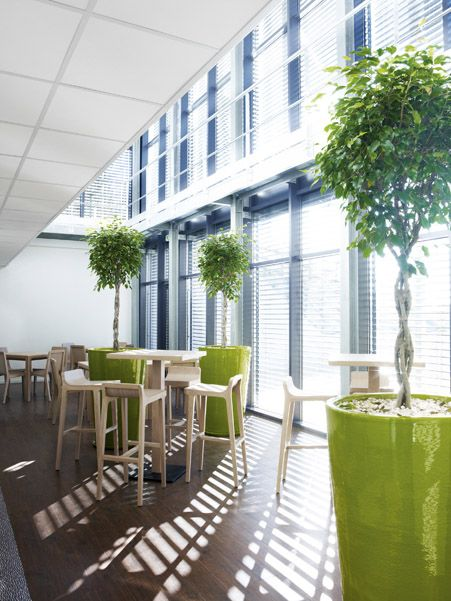 Our Emea stools and high tables in the Maison de la Solidarité