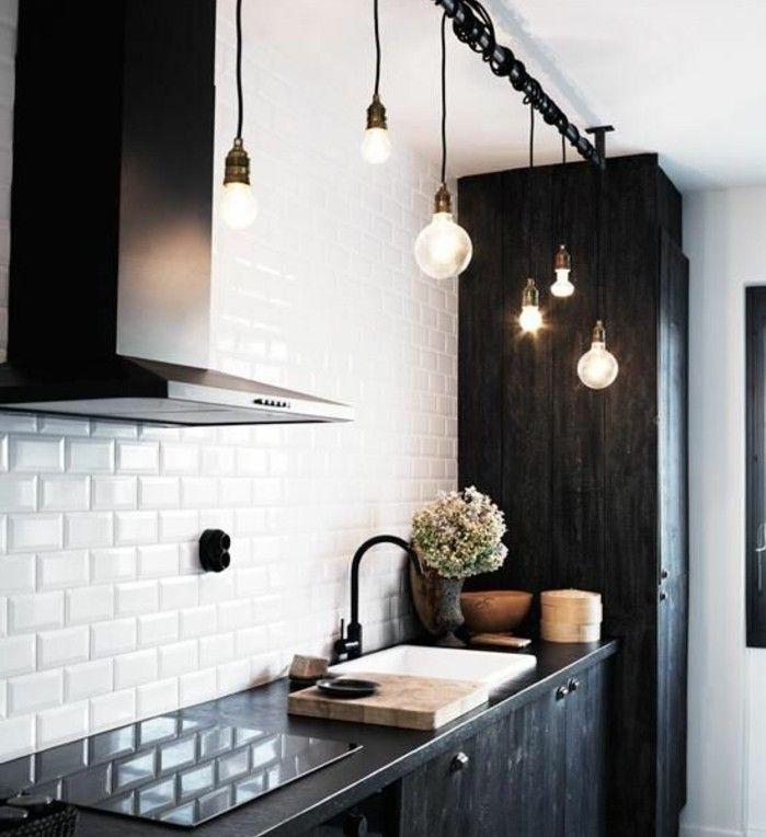 Wandblende Küche Glas   Die Besten 25 Vintage Industrielle Beleuchtung Ideen Auf