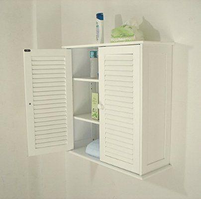 Badezimmer Hängeschränke , weiß,HC-011