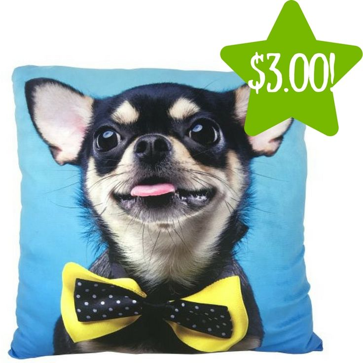 Walmart: Photo Real Chihuahua Bow Tie Throw Pillow Only $3.00 (Reg. $9) - http://www.couponsforyourfamily.com/walmart-photo-real-chihuahua-bow-tie-throw-pillow-only-3-00-reg-9/