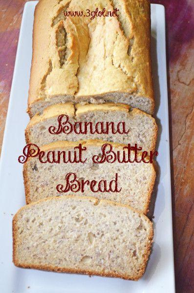 Banana Peanut Butter Bread.  Traditional Homemade Banana Bread with a peanut butter twist.  #bananabread #peanutbutter #homemadebread http://www.3glol.net (Butter Bread)
