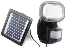 Solar powered security light can convert up to 17% of the sunlight into electricity energy.