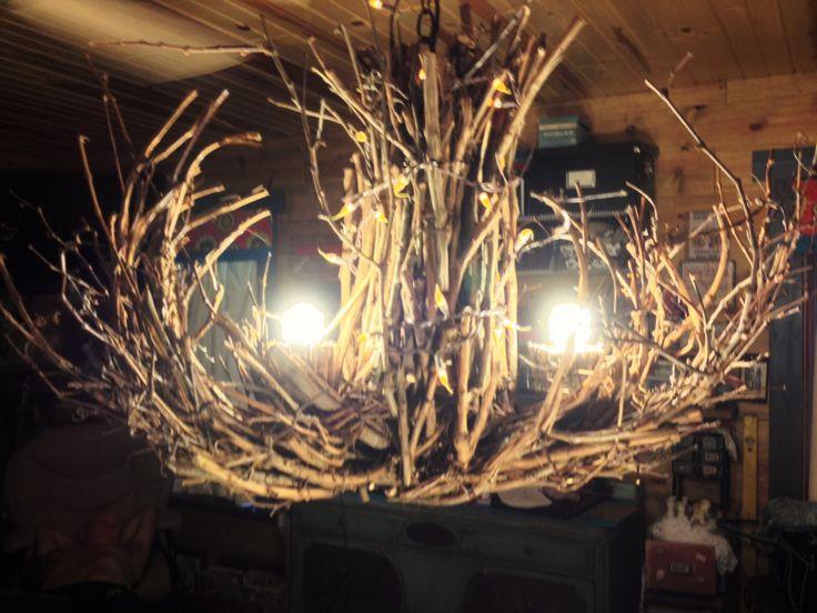 RESERVED FOR SHARON!!! The Shawnee  - Grapevine Chandelier - Chandelier Lighting - Twigs Chandelier - Rustic Chandelier - Branch Chandelier (595.00 USD) by CraftyGeminiCreation