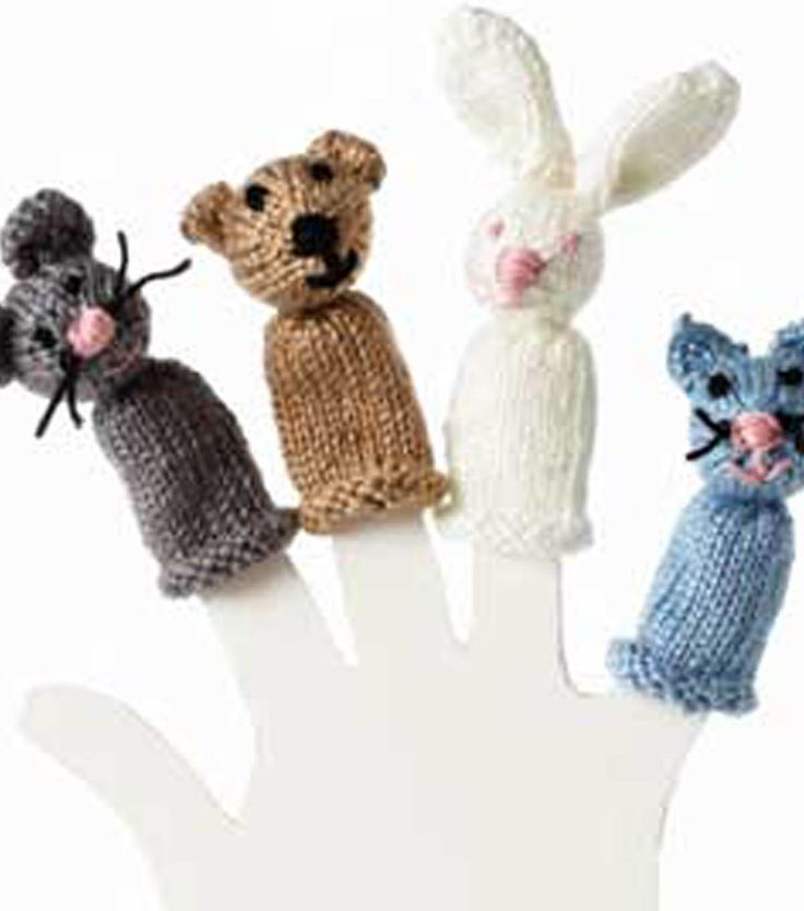 Knitting Patterns Toys Finger Puppets