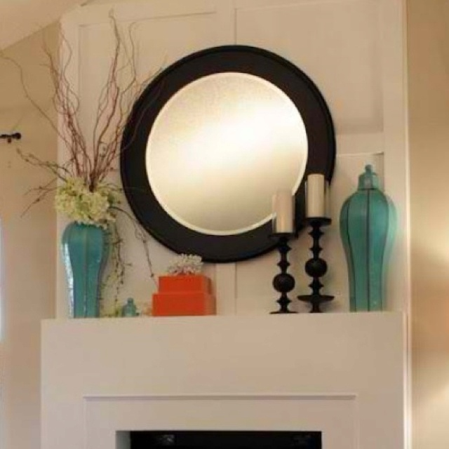 Fake Fireplace Tropical Bathroom Mirrors And Modern: Best 25+ Mantle Decorating Ideas On Pinterest