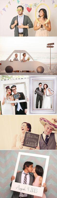 Photobooth / Fotobox / Foto-Eck für die Hochzeits-Feier als auch Inspirationen für Engagement- oder Verlobungs-Fotos
