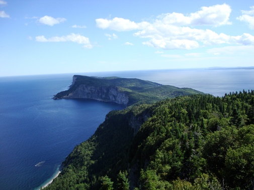 Cap Gaspe from the other side. Beautiful, prestine forests that someone probably dumped an old stove and some car parts in.