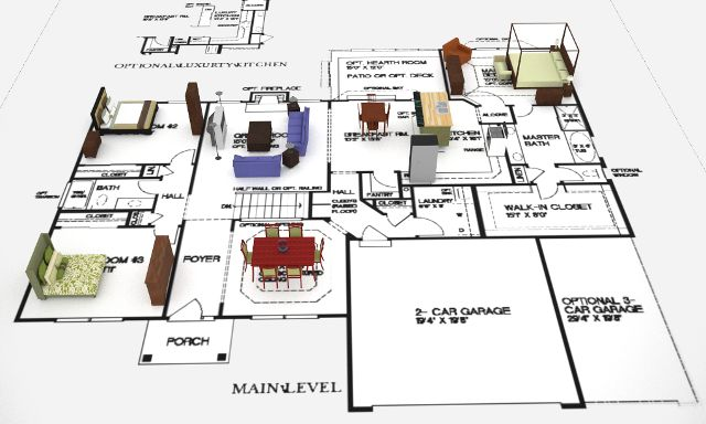 3d floorplan 1 Primrose