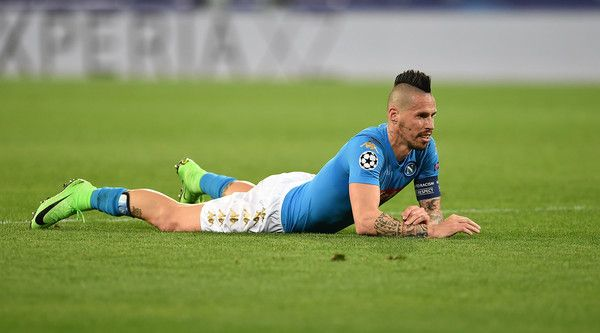 Marek Hamsik Photos Photos - Marek Hamsik of SSC Napoli in action during the UEFA Champions League Round of 16 second leg match between SSC Napoli and Real Madrid CF at Stadio San Paolo on March 7, 2017 in Naples, Italy. - SSC Napoli v Real Madrid CF - UEFA Champions League Round of 16: Second Leg