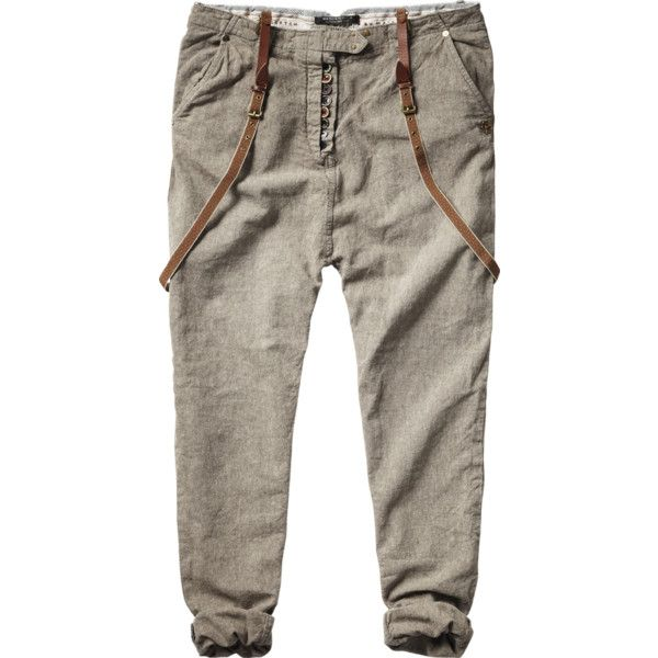 Baggy Special Fly And Button Pants ($65) ❤ liked on Polyvore