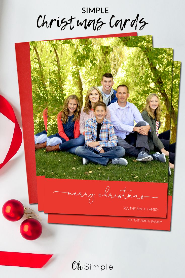 Simple Christmas cards | Simple Holiday cards | Personalized ...