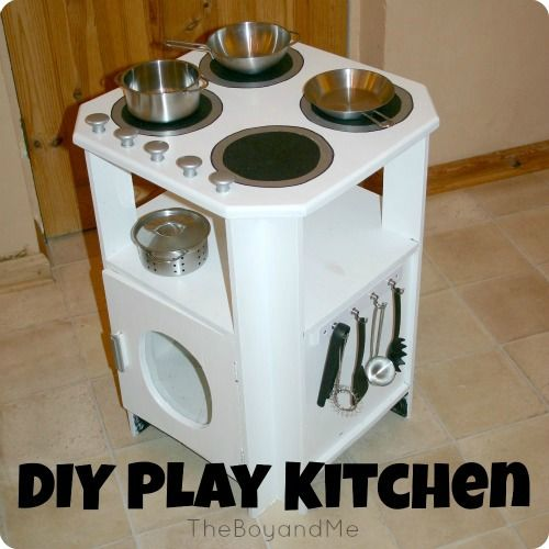 How To Make A Play Kitchen from a side table