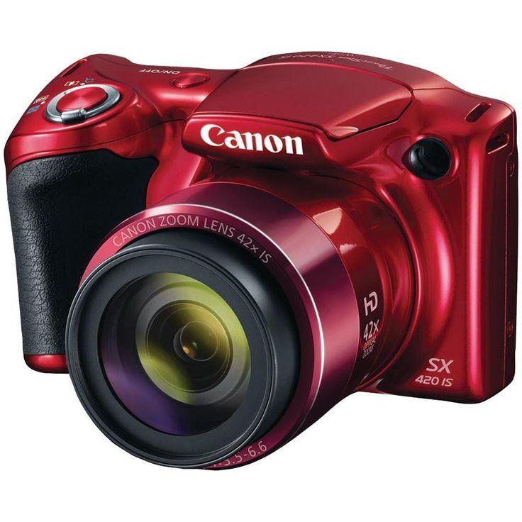 CANON 1069C001 20.0-Megapixel PowerShot(R) SX420 IS Digital Camera (Red)