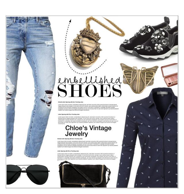 """""""Casual Chic"""" by shambala-379 ❤ liked on Polyvore featuring Fendi, Abercrombie & Fitch, LE3NO, Urban Decay and vintage"""