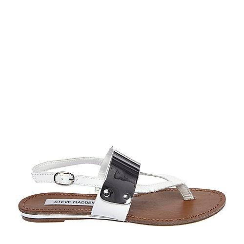 CUFFF WHITE women's sandal flat thong - Steve Madden
