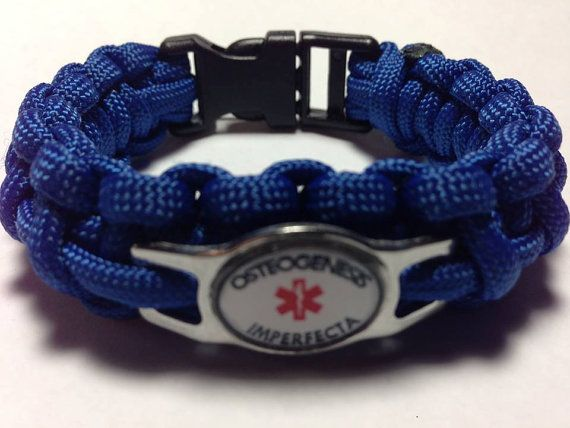 Osteogenesis Imperfecta Medical Alert by  KnotRightParacord on Etsy,  $14.50