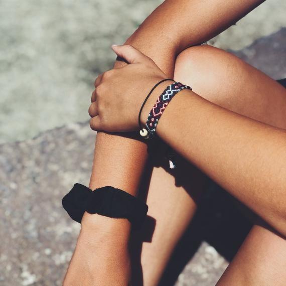 Grey Blue Pink The Julia Woven Friendship Bracelet