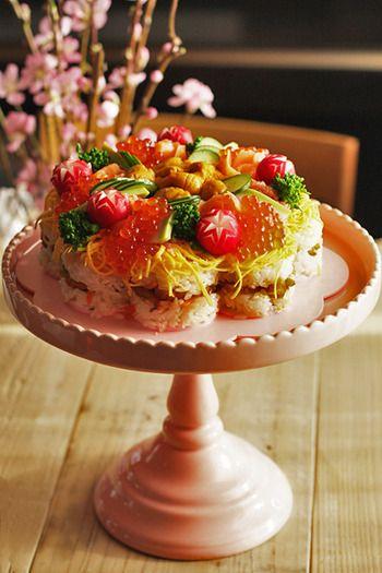「ケーキ寿司」:レシピブログ