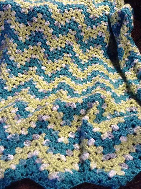 Ripple Waves Baby Blanket Crochet Pattern #crochetideas #crochetlove #crochet