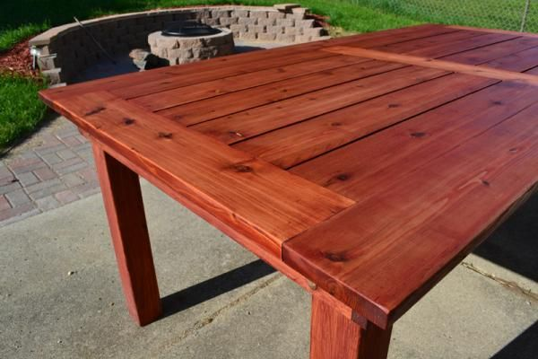 Beautiful Cedar Patio Table   Do It Yourself Home Projects from Ana White
