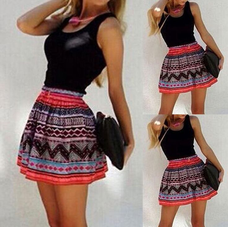 9.69-New Sexy Women Summer Sleeveless Casual Evening Party Cocktail Short Mini Dress #Unbranded #Sundress #Clubwear