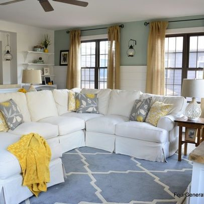 Yellow kitchens, Gray and Yellow on Pinterest