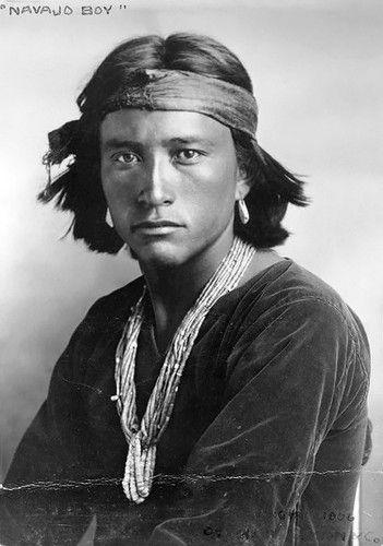 Navajo youth-- photo captured by Carl Moon circa 1906.
