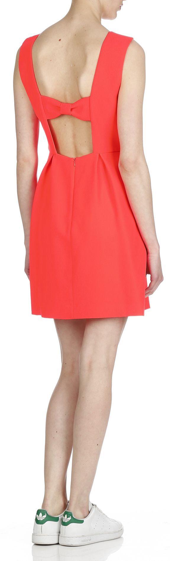 Robes de soirée tendance: Robyne Robe dos nu orange de CLAUDIE PIERLOT