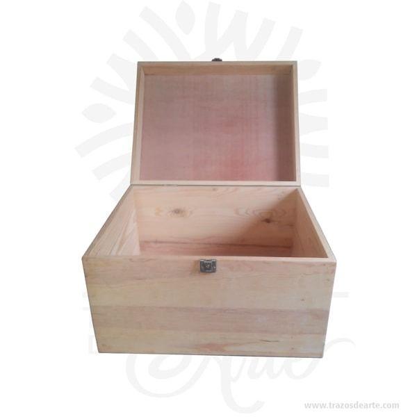 Caja Estuche Tipo Baúl Con Cierre De 50 X 40 X 30 Cm Cajas Embalajes De Madera Cajas Decoradas