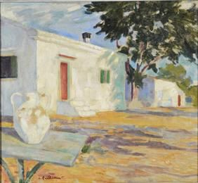 Παρθένης Κωνσταντίνος (1878/1879 - 1967) Τοπίο (Καισαριανή), 1905 - 1909 Λάδι σε μουσαμά , 48 x 54 εκ. Δωρεά Σοφίας Παρθένη , Αρ. έργου: Π.6490