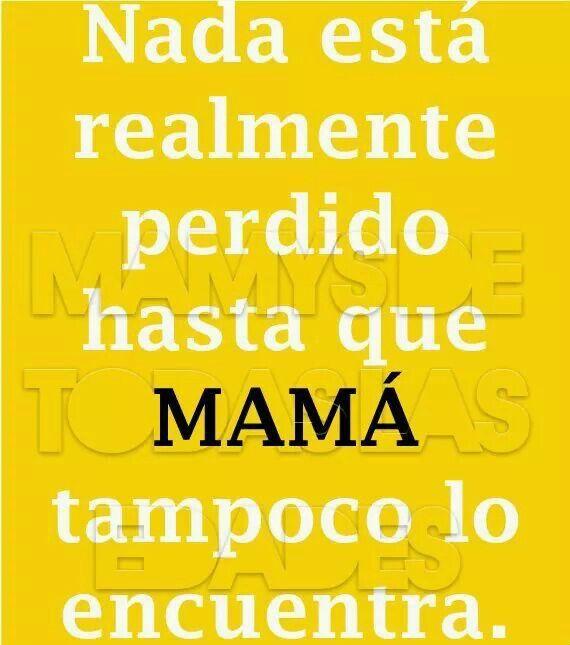 Mada hasta perdido, hasta que mamá tampoco lo encuentra... #verdad #consejos #madre