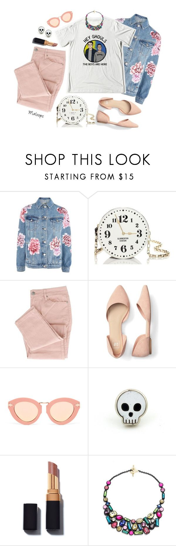 """~Call me, call me any, anytime~"" by maloops ❤ liked on Polyvore featuring Topshop, Kate Spade, Karen Walker, Trina Turk, StreetStyle, quirky, girlpower and minibags"