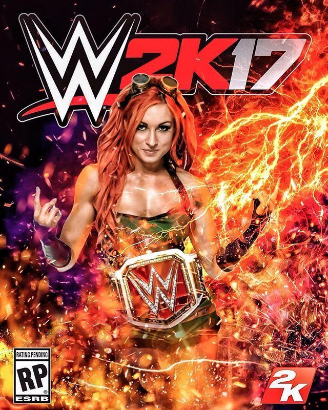 WWE 2K17 : Straight Fire Edition. { #WWE #BeckyLynch #WWE2K17 @BeckyLynchWWE #FanArt }